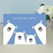 Polar Bears Family Card – Housewarming, New Baby Card, Father's Day or Mother's Day Card